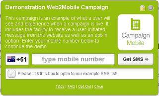 Web2Mobile Dialog